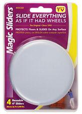 Magic Sliders  Plastic  Floor Slide  Gray  Round  4 in. W 4 pk Self Adhesive