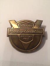 Harley Davidson 1954 50th Brass Panhead Fender Emblem FL FLH Hummer 125 165