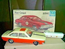 VINTAGE FIAT 124 COUPE TOY CAR GERMANY PIKO ANKER BATT. OPER. REMOTE FOR PARTS