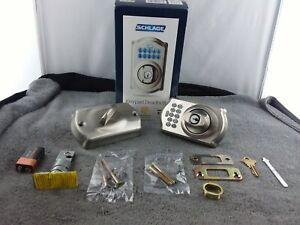 Schlage Electronic Entry Keypad Deadbolt: Satin Nickel (BE365/CAM619)  - USED