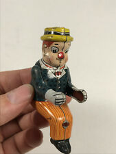 Vintage Japan Tin Litho Driver Toy Figure WC Fields? nice complete