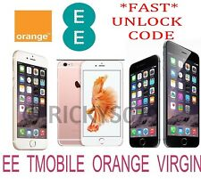 UNLOCK CODE SERVICE IPHONE se 7 7+ 6S 6S PLUS 6+ 6 5S 5 4S 4 UK EE TMOBILE