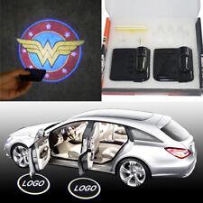 2 x Wireless car door LED Wonder Woman logo ghost welcome light laser projector