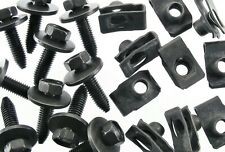 GM Body Bolts & Short U-nut Clips- M8-1.25 x 30mm Long- 13mm Hex- 40 pcs- #154F