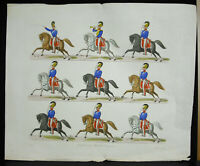 Badische Dragoner Grossherzog Gravur XVIII Militaria Kavallerie Deutsches Drache