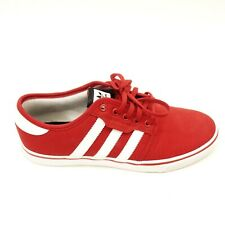adidas Size 8.5 Red Canvas Skateboarding Seeley Lace Up Sneaker Shoes Mens