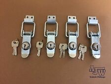 4 Locking Over Centre Lock Catches Trailer Motorhome Horsebox Camper Toggle
