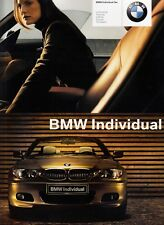 BMW 3 3er E46 Coupe Cabrio INDIVIDUAL Ausstattungen Prospekt Brochure 2003 20