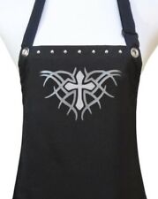 "Salon Apron ""TRIBAL CROSS"" hair stylist salon chef hostess party new silver"