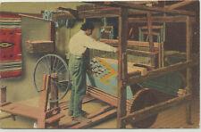 NATIVE AMERICAN - CHIMAYO WEAVER - AT HIS LOOM - CIRCA 1940