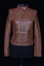 Abrigos y chaquetas de mujer motera/de cuero color principal marrón