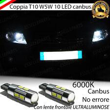 COPPIA LUCI DI POSIZIONE 10 LED PER OPEL ASTRA H GTC T10 W5W CANBUS NO ERROR