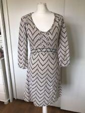 Fat Face Women's Cream & Brown Long Sleeve Dress Size 10