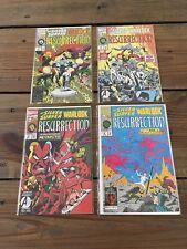 Marvel Comics Silver Surfer vs Warlock Resurrection 1-4 Raw Near Mint