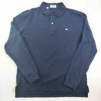 Southern Tide The Skipjack Navy Blue Polo Long Sleeve Shirt Men's Size Large