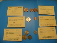 INDIA 1/12, 1/4, 1/2 1,  ANNA  COIN 1935 1939 1942-1944 1946 C3