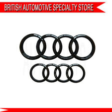 Black Gloss FOR Audi A4 B7 S line 2005-2008 Front Rear Grille Badge Rings Logo