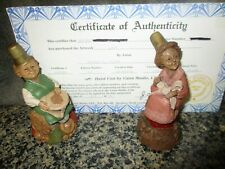 Tom Clark Gnomes Lacy And Countess With A Certificate For Lacy