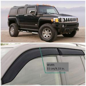 HE40205 Window Visors Sun Guard Vent Wide Deflectors For Hummer H3 2005-2010