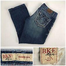 BKE Sabrina Womens 27 Stretch Jeans Crop Distressed