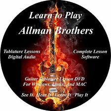 Allman Brothers 93 Guitar TABS Software Lesson CD + 21 Backing Tracks + BONUS
