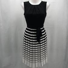 Talbots Black Stripe Dress 4P