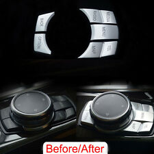 5Pcs Interior Multi-Media Button Cover Trim Sequins For BMW 3/5/7 Series M3 M5
