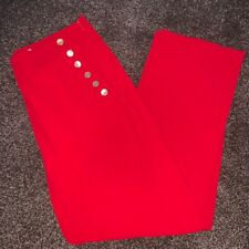 Red Trousers Size 10