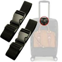 Black Small Travel Luggage Straps Short Adjustable P2O9 Hol Buckle Suitcase T9N9