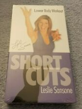 Short Cuts w/ Leslie Sansone / Lower Body Workout (2002) -VHS Movie-Exercise-NEW