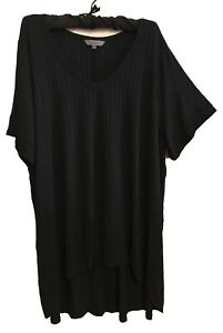 New BELLE CURVE Black Stretch Top-Size 26