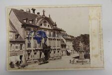 original CDV Foto Offenburg Marktplatz mit Drake Denkmal um 1888