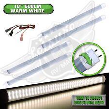 """4PC 12V DC RV Marine F15T8 LED Tube Light 9W 18""""(17-3/4"""" pin to pin) WW 600 lm"""