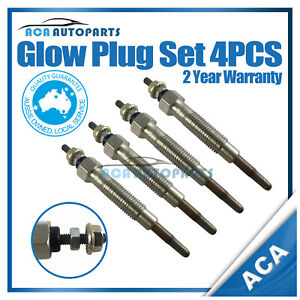 12V Glow Plugs fits Ford Courier PD PE PG PH 2.5L Turbo Diesel 4CYL WL-T