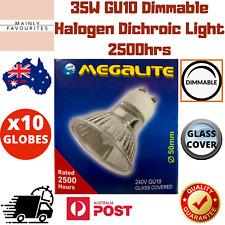 10x Dimmable Halogen Lamp Bulb Light Globe 35W 38 Degree Lens GU10 Base 2500hrs