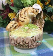 Schmid Beatrix Potter music box Chippy Hackee Musical darling HTF