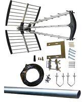 64 Element Digital TV DIY Aerial Kit+ Tri-Boom 4G LTE CAI Approved