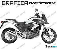 ADESIVI DECAL STICKERS HONDA NC750X NC 750 X RACIN CARENA GRAFICA NERO ARGENTO