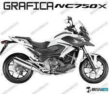 ADESIVI DECAL STICKERS HONDA NC750X NC 750 X RACIN CARENA GRAFICA NERO ARGENTO
