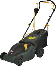 Tesco Electric Rotary Lawn Mower with 40L Grass Collection Bag Green