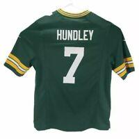 Green Bay Packers Brett Hundley 7 Nike Mens On Field Jersey Green V Neck L