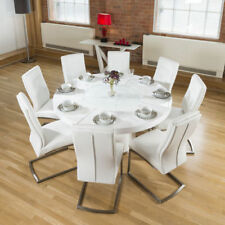 Lacquer Round Table & Chair Sets with 8 Seats