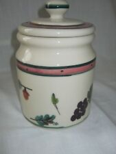 Small 1 Quart Hartstone WOODLAND PATTERN Canister/Cookie/Treat Jar With Lid NWOT
