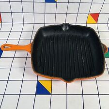 Le Creuset Square Griddle Grill Frying Pan Volcanic Orange - Made In France