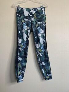 Athleta Women's Floral Pattern Hawaiian Green Legging Size S