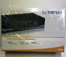 TRENDNET TK-401R 4-PORT PS/2 RACK MOUNT KVM SWITCH MONITOR PC HDMI SWITCHER