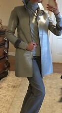 NWT BEBE Gray Patent Faux Leather Coat Size XS $220