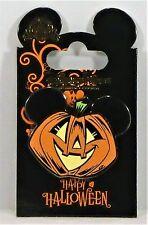 Disney Happy Halloween Trick or Treat Jack o Lantern Pumpkin Mickey Pin NEW CUTE