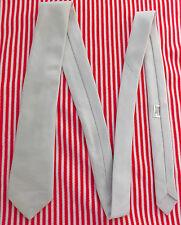 Cotton mix skinny ties Light grey St Bernard NEW washable Irish menswear Narrow