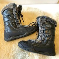 The North Face Nuptse Fur IV Women's Boots TNF Black Size 8 MSRP $130